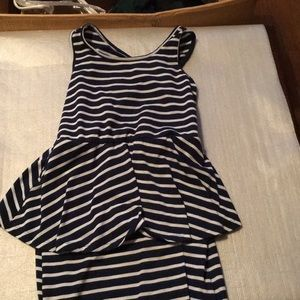 Faded Glory girls blue w/ white stripes 7/8 medium